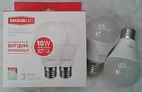 Светодиодная лампа Maxus LED-561 Е27 10W 3000К (2 штуки в упаковке )