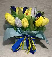 """Композиция букет из конфет национальных цветах """"Украинский сувенир"""""""