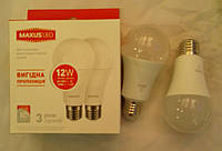 Светодиодная лампа MAXUS LED-563 12W 3000K 220V E27 (2 штуки в упаковке)