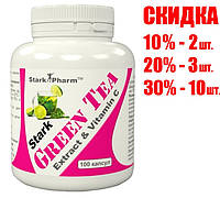 Жиросжигатель Stark Pharm - Green Tea + Vit C (100 капсул)
