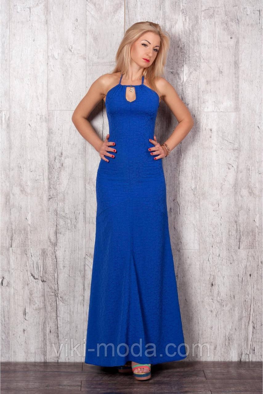 Стильное макси-платье