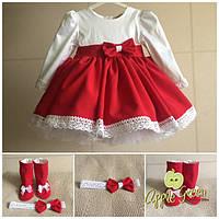 """Пышное нарядное детское платье с льняным кружевом """"Ягодка"""", фото 1"""