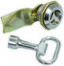 Замок-защелка с трехгранным ключом IP54 22-25/44