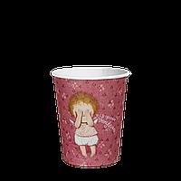 Стакан бумажный 175 мл. Gapchinska 50шт. (54/2700) Розовый, фото 1