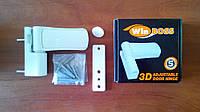 Петля дверная  WinBoss 105 3D (до 120 кг.), белая.
