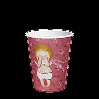 Стакан бумажный 250 мл. Gapchinska 50шт. (48/2400) Розовый