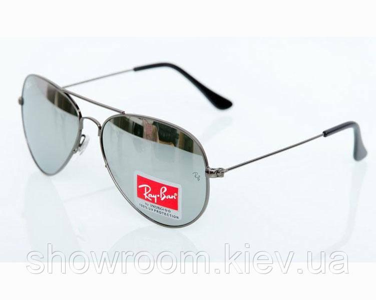 Мужские солнцезащитные очки в стиле RAY BAN aviator (3026) grey