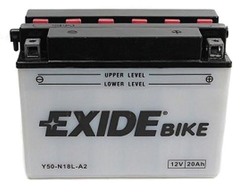 Аккумулятор кислотный 20Ah 260A EXIDE E50-N18L-A = Y50-N18L-A