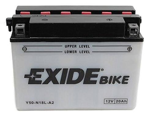 Аккумулятор кислотный 20Ah 260A EXIDE E50-N18L-A = Y50-N18L-A, фото 2
