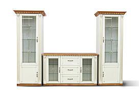 Гостиная стенка Freedom Микс-мебель белая патина