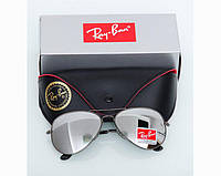 Женские солнцезащитные очки в стиле RAY BAN aviator (3026) grey, фото 1