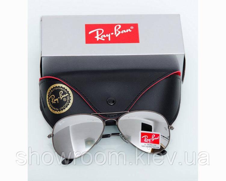 Женские солнцезащитные очки в стиле RAY BAN aviator (3026) grey