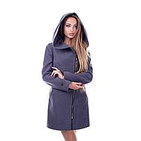 Женское пальто с капюшоном осеннее