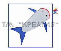 Флисовый плед хвост акулы под заказ  (от 50 шт.)