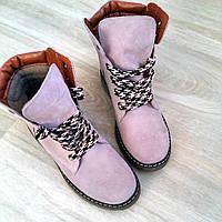 Ботинки женские тимберленды Timberland замша осенние зимние