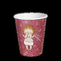 Стакан бумажный 400 мл. Gapchinska 50шт. (20/1000) Розовый(КР91), фото 1