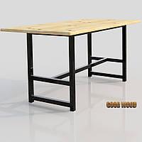 Стол Ст-5 (Ш 1700мм) ,черный или белый, из дерева и металла