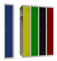 Шкафы металлические  одежные  модульные ШМОМ
