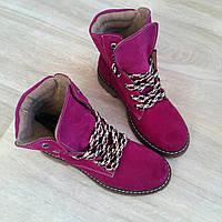 Ботинки женские тимберленды Timberland с мехом зимние, крутые зимние ботинки женские высокие берцы