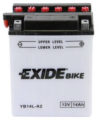 Аккумулятор кислотный 14Ah 145A EXIDE EB14L-A2 = YB14L-A2, фото 2