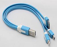 Универсальный USB кабель-лапша для подзарядки мобильных устройств, фото 1