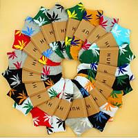 Короткие носки ХАФ HUF PLANTLIFE с разноцветными листами конопли