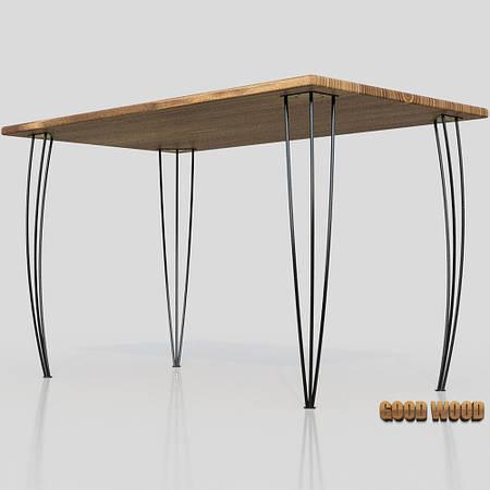 Стол Ст-8 (Ш 1000мм) ,черный или белый, из дерева и металла