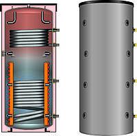 Буферная емкость для отопления Meibes SPSX-2G 1500 со встроенными двумя теплообменниками (без изоляции)