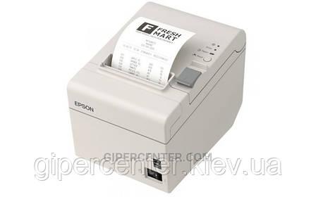 Чековый термопринтер EPSON TM-T20II Ethernet+USB с обрезчиком черный, фото 2
