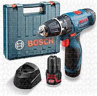 Ударная дрель-шуруповерт Bosch GSB 120-Li, 2 аккумуляторами 10,8 В