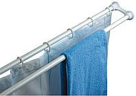 Карниз двойной для шторы в ванну 120-220 см белый