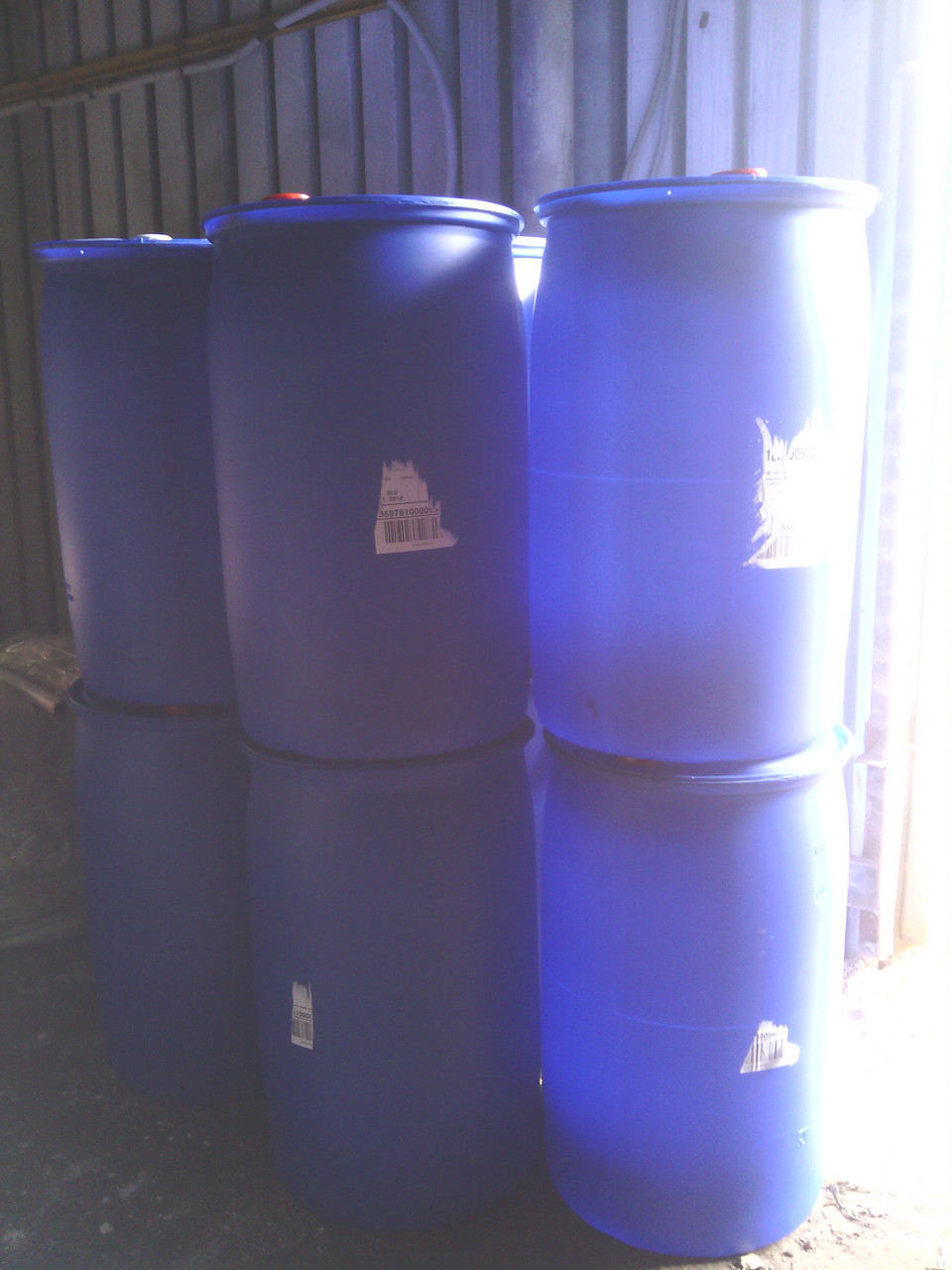 Бочка пластиковая пищевая, 227 литров, б/у, мытые и немытые