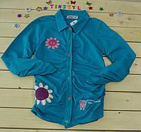 Модная трикотажная рубашка  на девочку рост 158-164 см