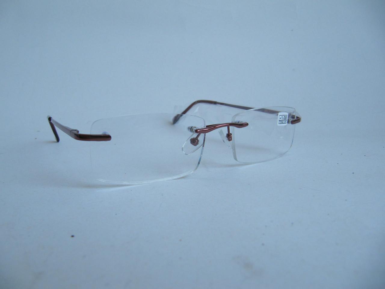 Безоправные очки с белой линзой