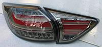 Mazda CX-5 оптика задняя тюнинг, фонари LED черно-красные / taillights CX-5 smoked red LED