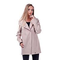 """Демисезонное женское пальто """"MB-061"""" бежевый, S"""