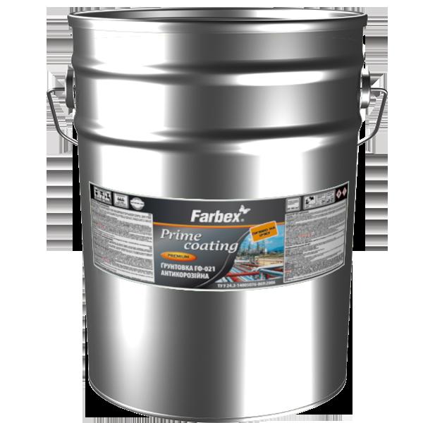 Грунтовка антикарозийная Farbex ГФ-021, белая 12 кг