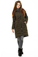 Модная зимняя женская куртка  без меха