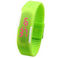 Часы-браслет силиконовые с LED экраном 78162