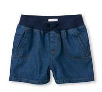Шорты темный джинс