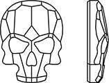 Термоклеевые стразы 2856 Skull