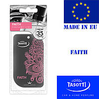 Автомобильный ароматизатор сухой листик Tasotti Perfume Line Faith
