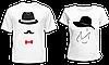 """Парные футболки """"Шляпы"""""""