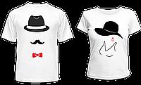 """Парные футболки """"Шляпы"""", фото 1"""