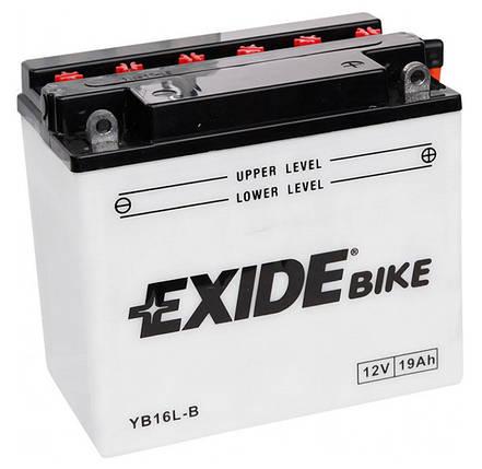 Аккумулятор кислотный 19Ah 190A EXIDE EB16L-B = YB16L-B, фото 2