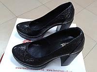Модные женские туфли на тракторной платформе и з натуральной кожи  LEXI Т (лод.)U 739