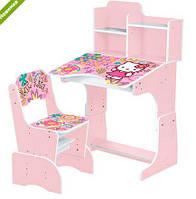Детская Парта Растишка  Bambi WL 2071--48-3 Хеллоу Китти, розовая