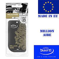 Автомобильный ароматизатор сухой листик Tasotti Perfume Line Millionare