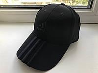 Мужская кепка Adidas, черная с черным логотипом