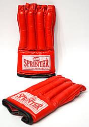 Шингарты кожаные красные SPRINTER